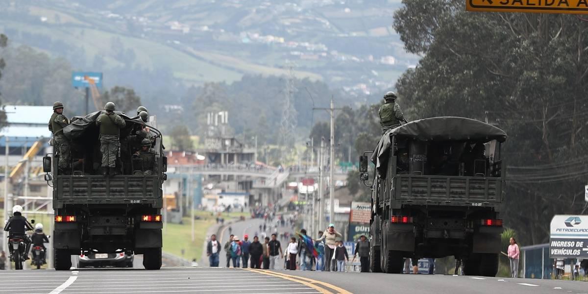 Protestas en Ecuador: Decenas de camiones con indígenas se acercan a Quito para gran manifestación este 7 de octubre