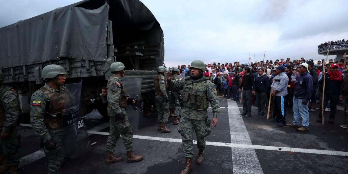 Protestas en Ecuador: Al menos 53 militares se encuentran retenidos en Chimborazo e Imbabura