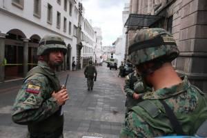 Militares en el Centro Histórico