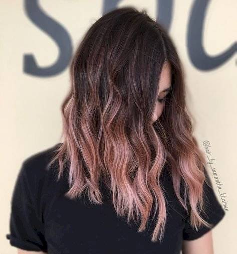 cabello rose gold 2019