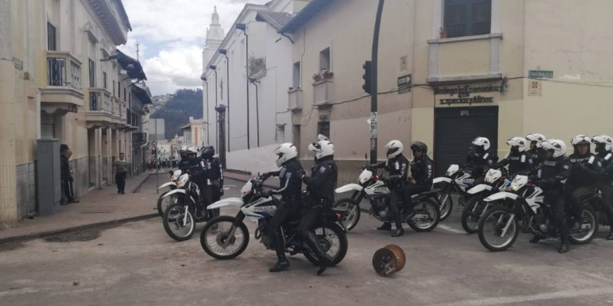 Protestas en Ecuador: Se registran incidentes en el Centro Histórico de Quito este 7 de octubre