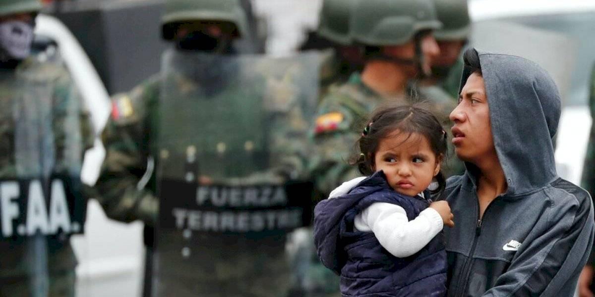 Ecuador vive más bloqueos, choques y protestas: Presidente Moreno despacha desde Guayaquil