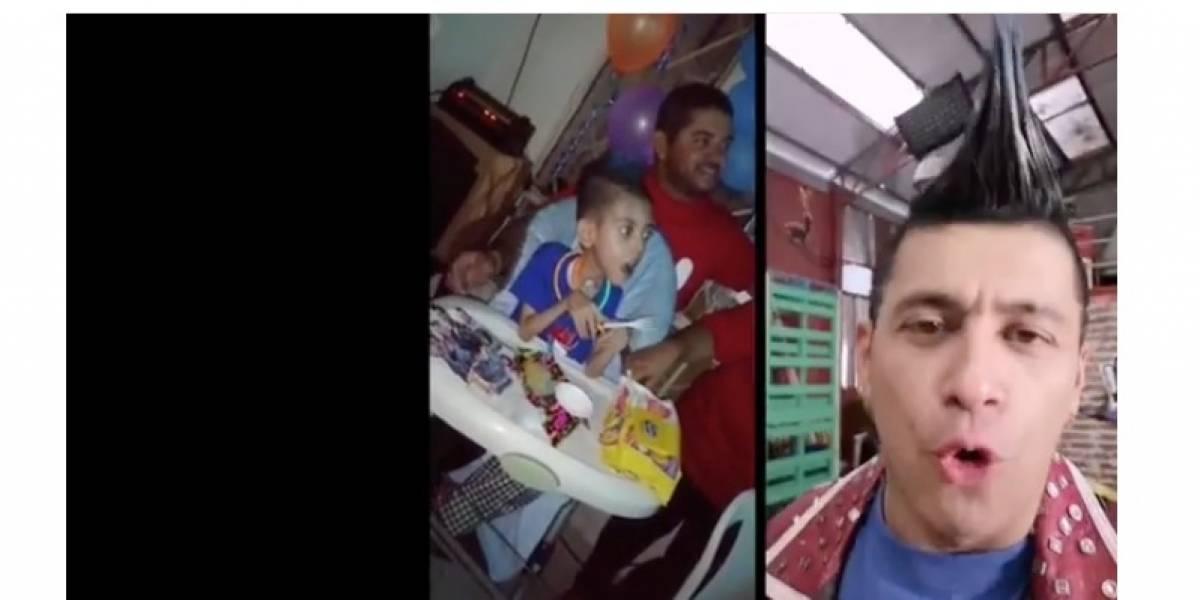 Noble gesto de Santiago Alarcón con pequeño fanático de 'El man es Germán'