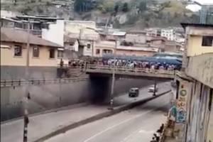 Protestas en Ecuador: AMT recomienda no circular por la avenida Mariscal Sucre, sector los Túneles