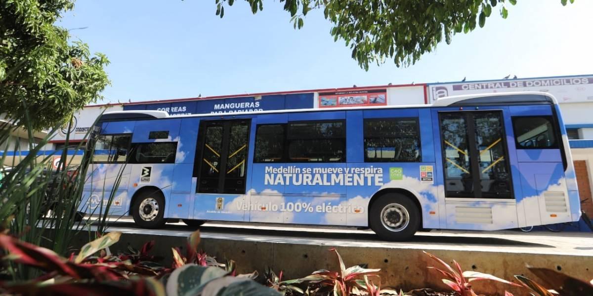 Esta será la imagen que lucirán los buses eléctricos que circularán en Medellín