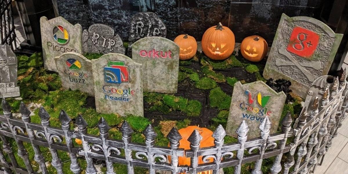 Imperdible: Google celebra Halloween con un cementerio de todos sus servicios muertos