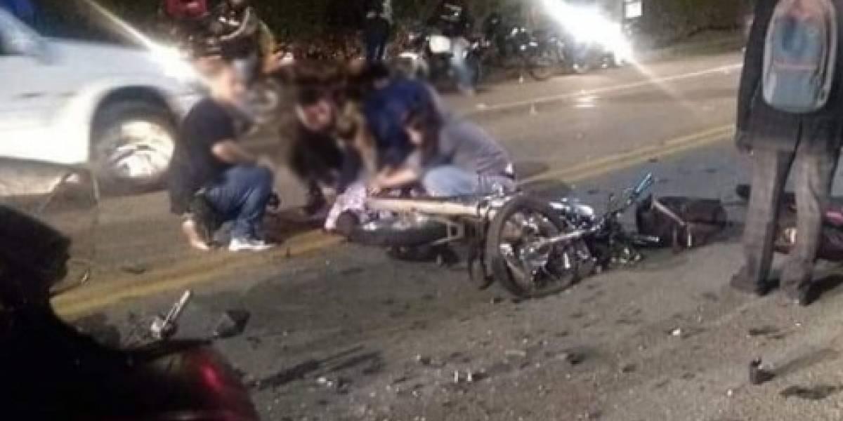 Grave accidente vial entre dos motociclistas deja dos personas muertas