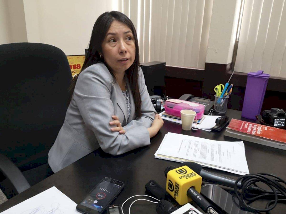La jueza Erika Aifán denunció a la trabajadora del OJ, Tatiana Guzmán. Foto: Emisoras Unidas