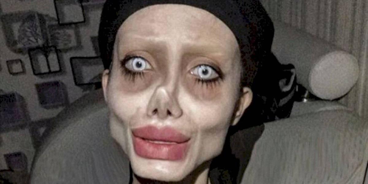 Jovem que ficou conhecida por tentar se parecer com Angelina Jolie é presa
