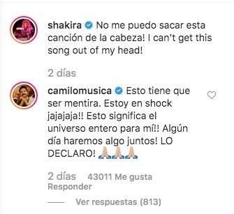 Shakira canta canción Camilo