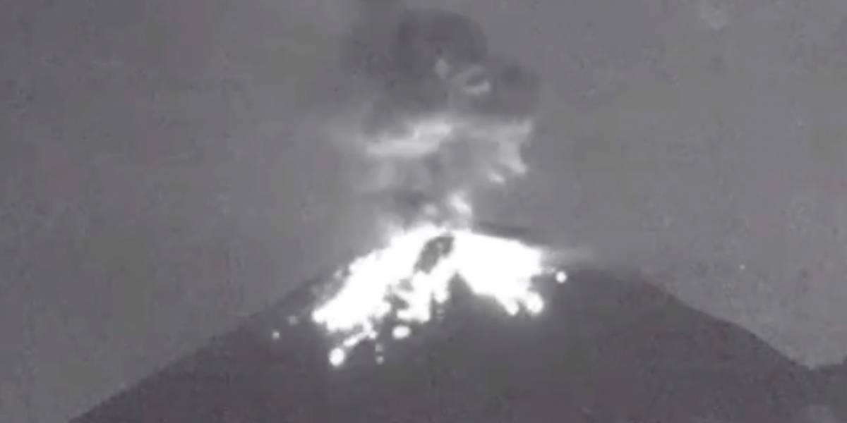 El Popocatépetl presenta casi 4 horas de tremor en las últimas 24 horas