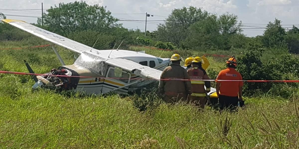 Se desploma avioneta que salió del Aeropuerto del Norte