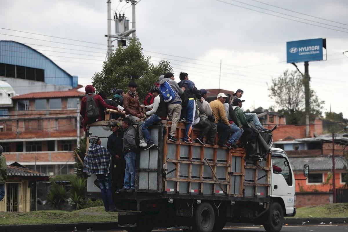 Grupos indígenas llegan a Quito EFE
