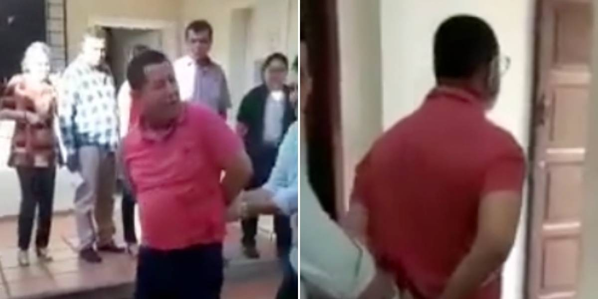 (VIDEO) Pastor capturado por abuso sexual intentó suicidarse