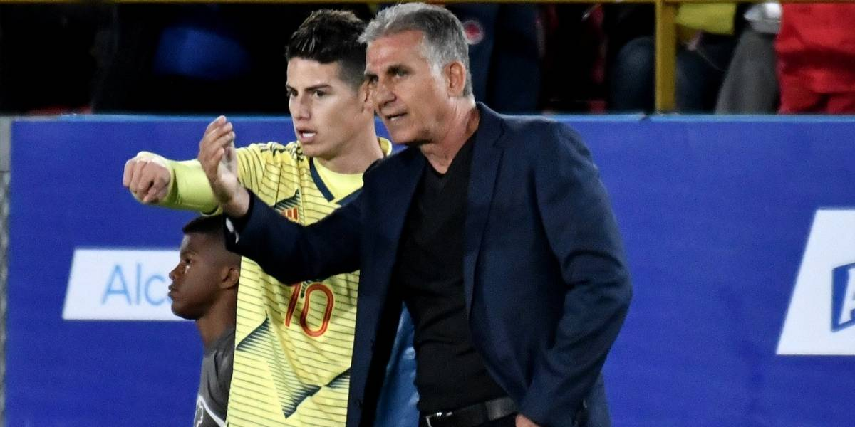 Queiroz reveló la verdad sobre la supuesta petición de James de no ser llamado a la Selección
