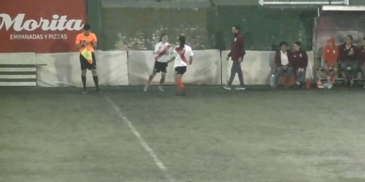 Camila Pavez debutó en el fútbol femenino argentino cosechando elogios en River Plate