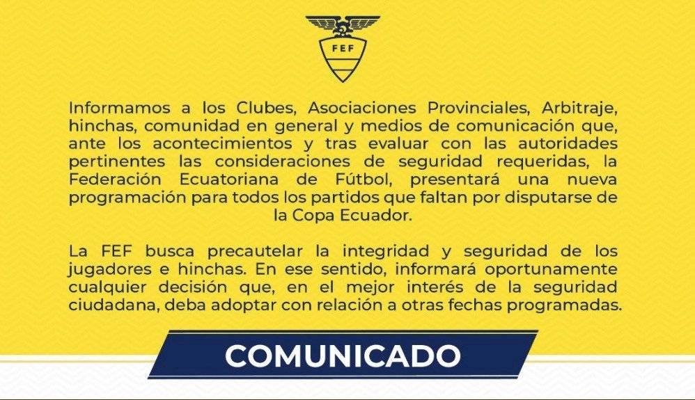 Comunicado Conmebol
