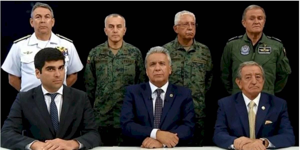 Presidente de Ecuador se reunió de emergencia con todos los poderes del Estado en Guayaquil