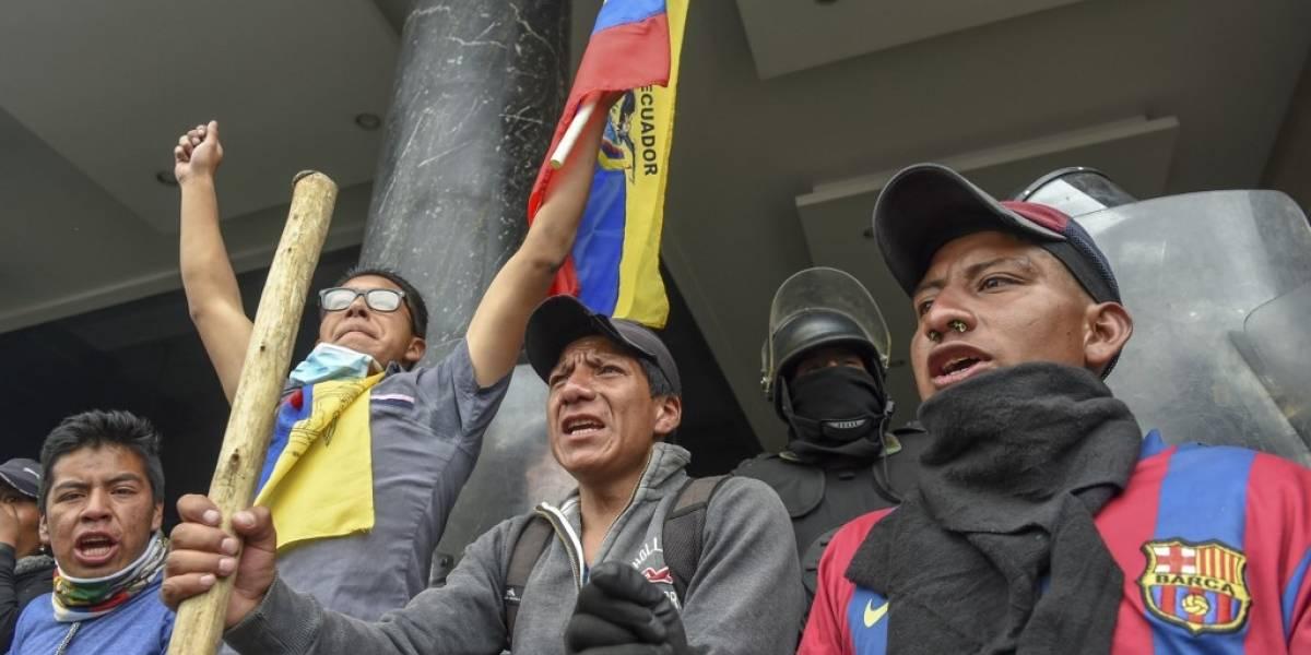 Ecuador cumple siete días de paro nacional: saqueos, enfrentamientos y marchas