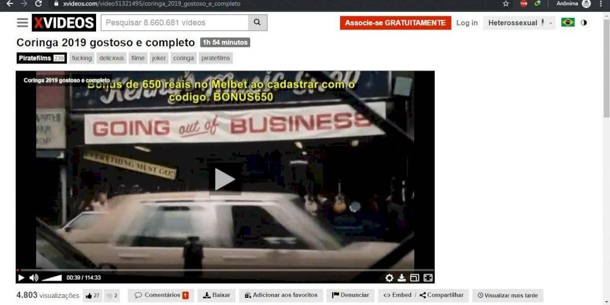 Canal Disponibiliza Novo Coringa Completo Em Site Pornô