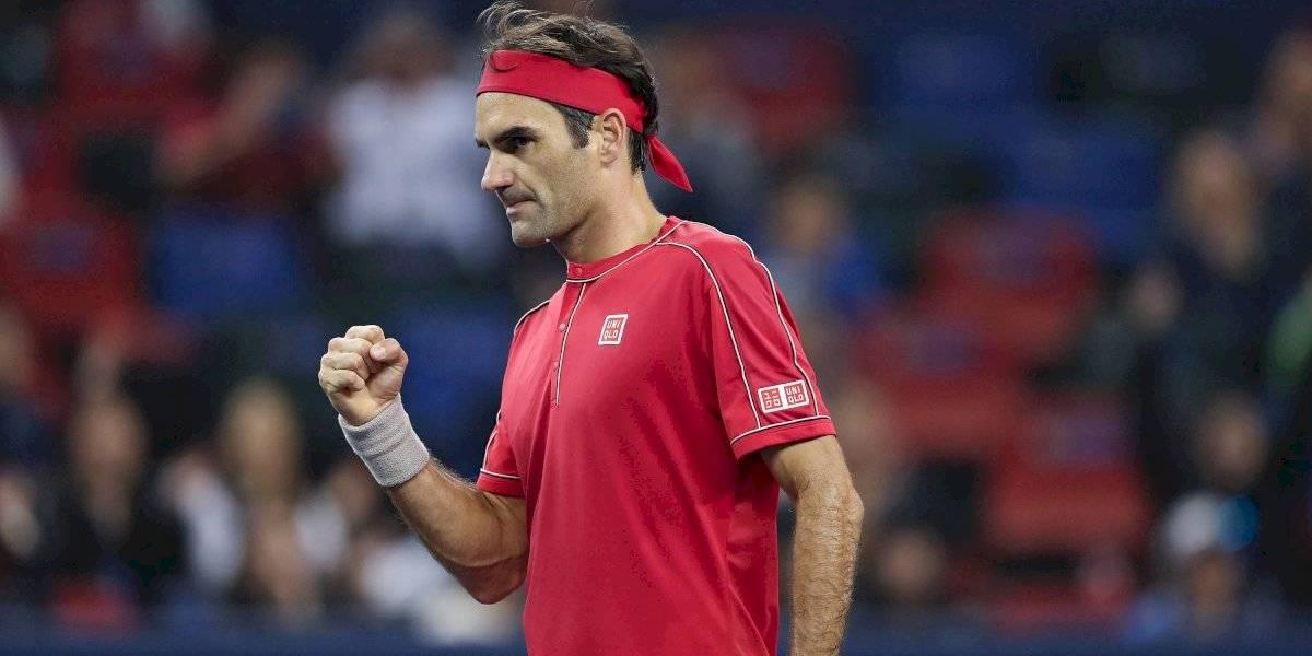 Roger Federer debuta con triunfo en el Masters 1000 de Shanghai