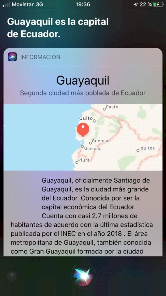 Respuesta de la aplicación de iOs, Siri