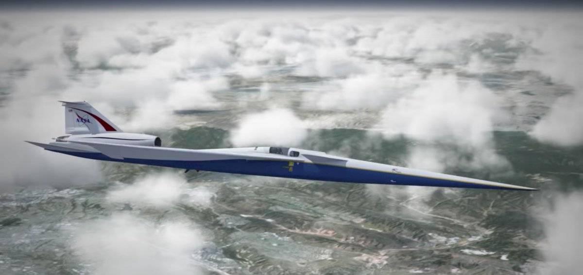 Avión supersónico silencioso.