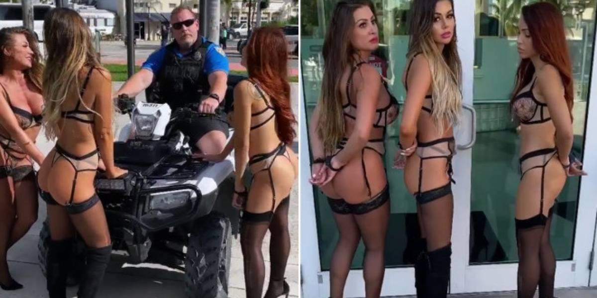 Suspenden a policía que participó en arresto falso a tres modelos en ropa interior