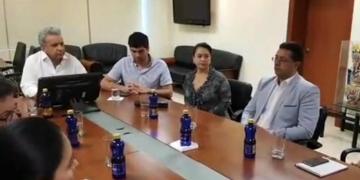 Lenín Moreno se reúne con su gabinete en Guayaquil, nueva sede de Gobierno