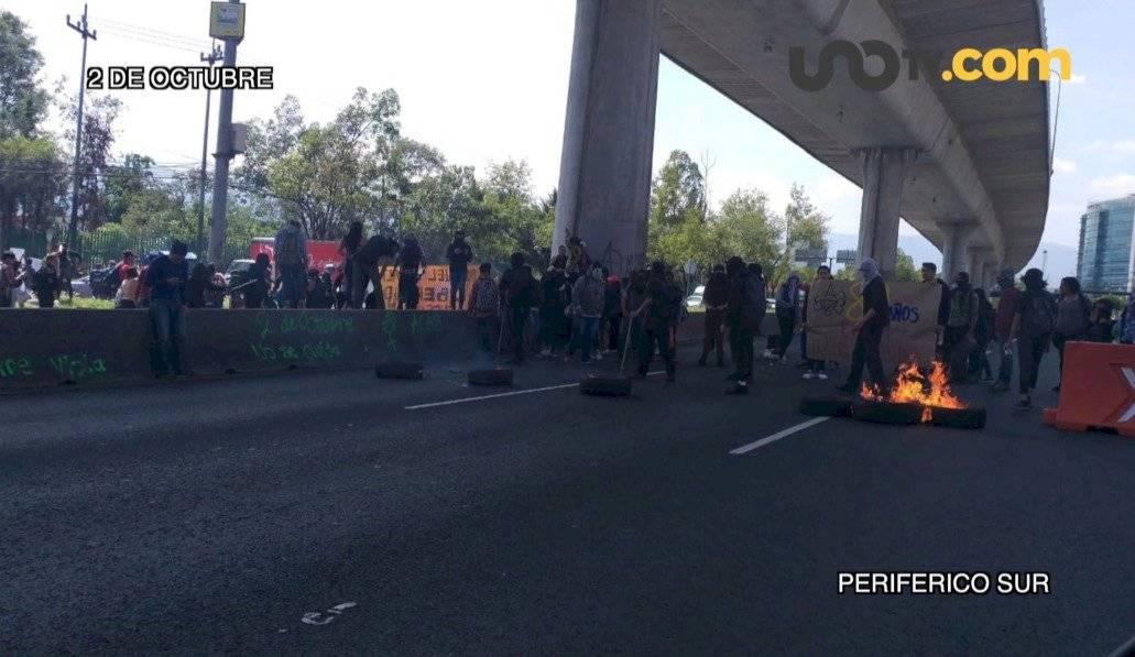 También el 2 de octubre bloquearon el tránsito de Periférico Sur /Autor:Unotv