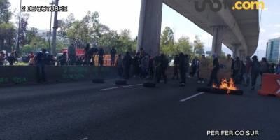 También el 2 de octubre bloquearon el tránsito de Periférico Sur