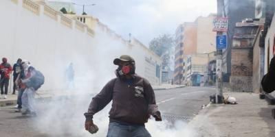 Protestas en Ecuador: Enfrentamientos en los exteriores de la Asamblea Nacional