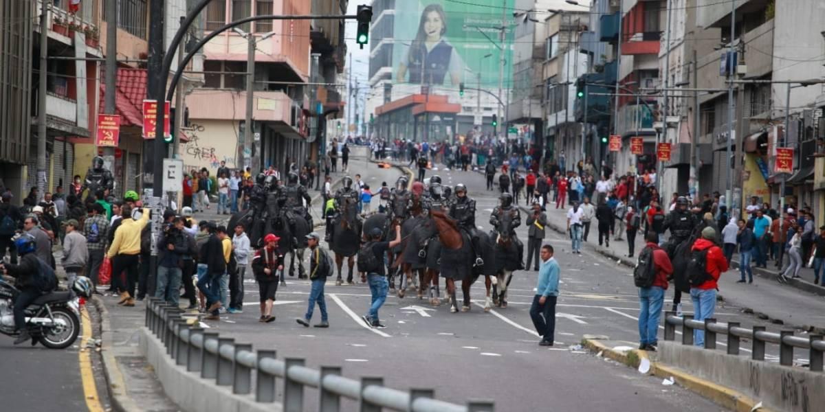 676 detenidos por protestas en Ecuador