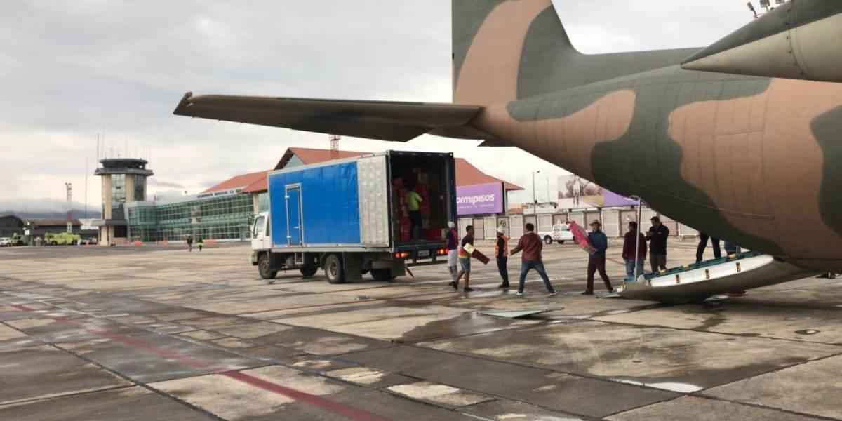 CORPAC mantiene activo apoyo a puente aéreo Quito-Cuenca