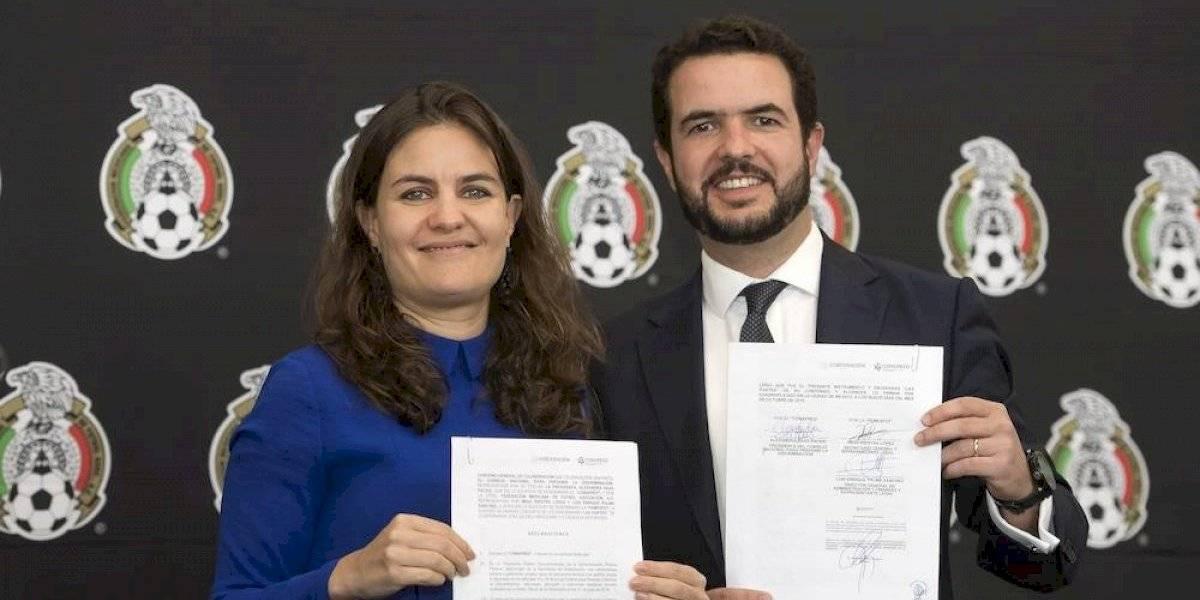 """FMF y Conapred firman convenio para erradicar el grito """"eh p…"""""""