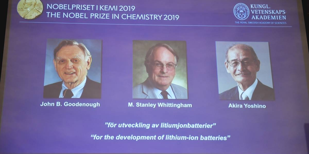 Nobel de Química para desarrolladores de las baterías de iones de litio