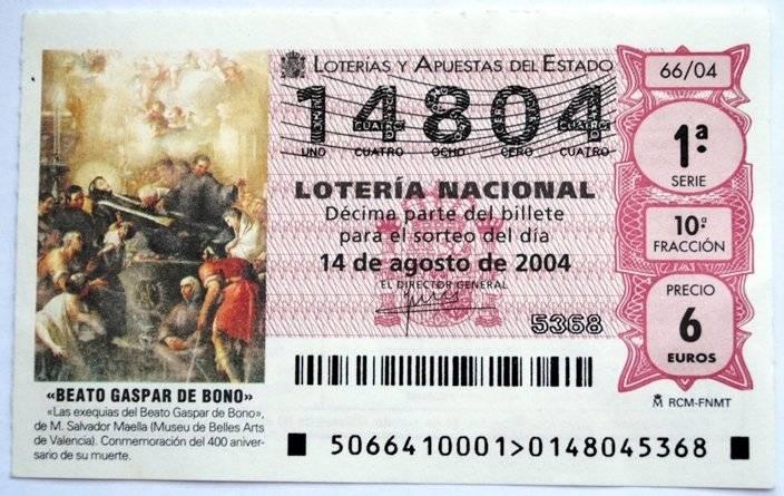 Billete de lotería en el interior del auto