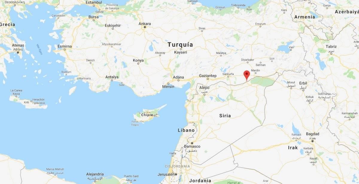 Ciudad de Ras al Ayn, en Siria, fronteriza con Turquía