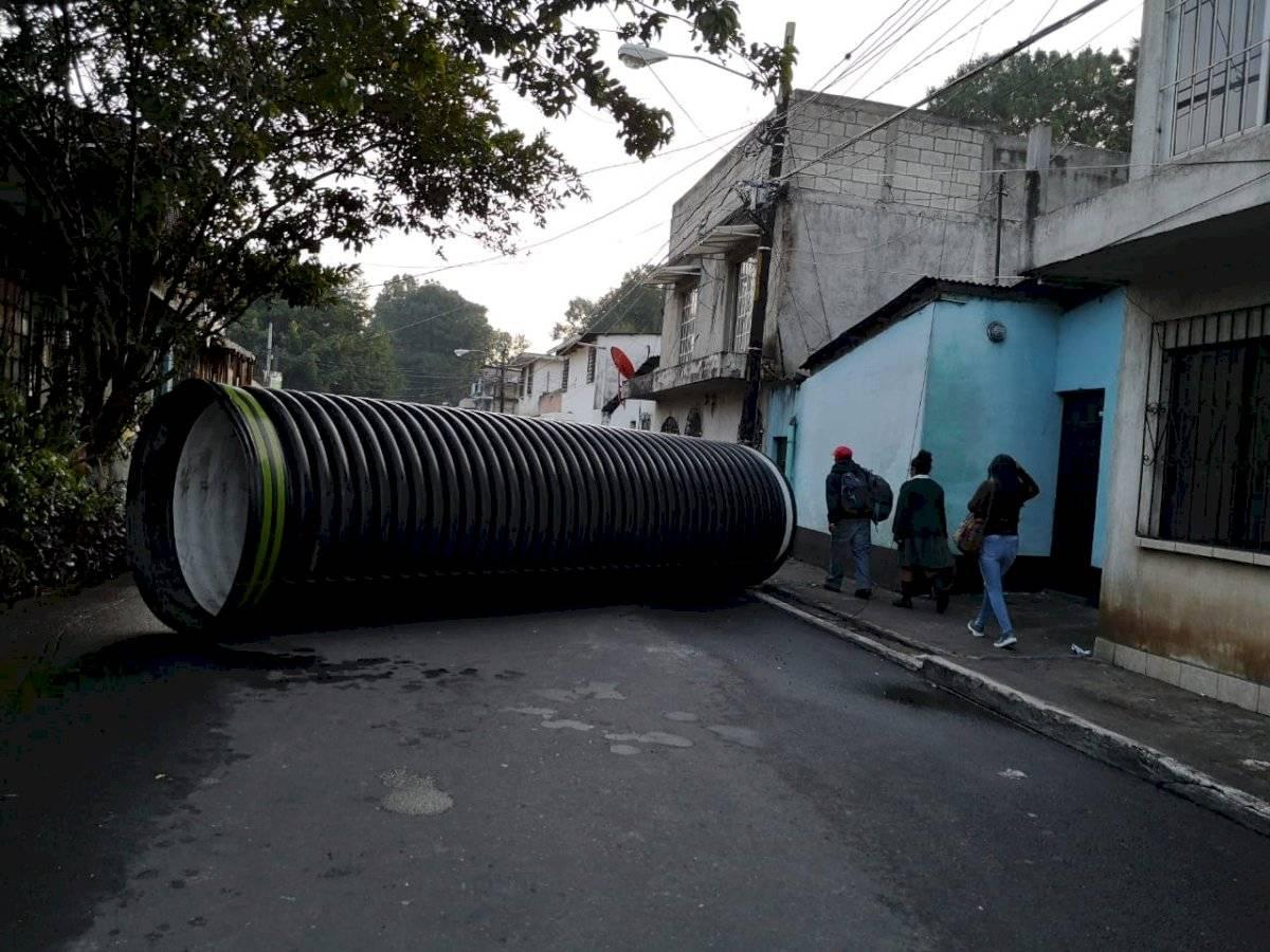 hundimiento en zona 7 de Mixco