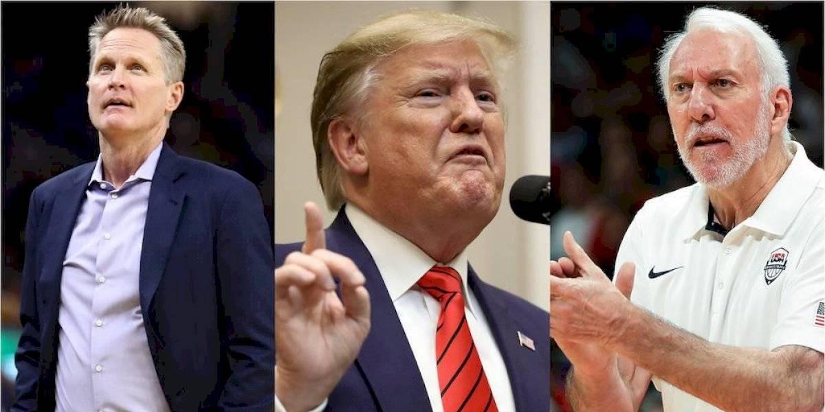 Trump critica a Kerr y Popovich por no defender a NBA en conflicto con China