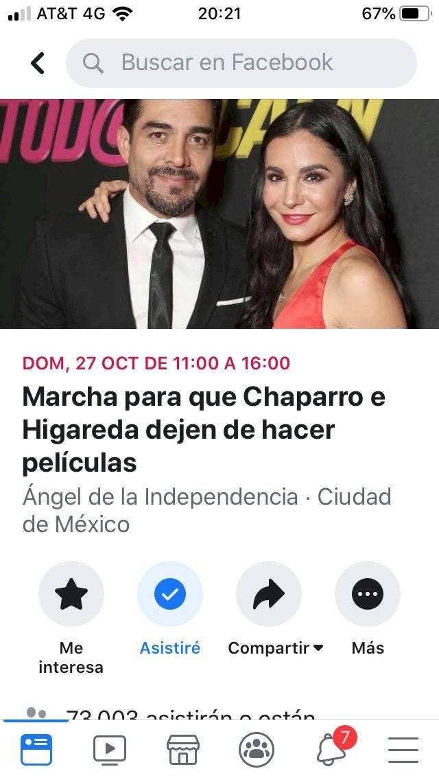 Marcha contra Omar Chaparro