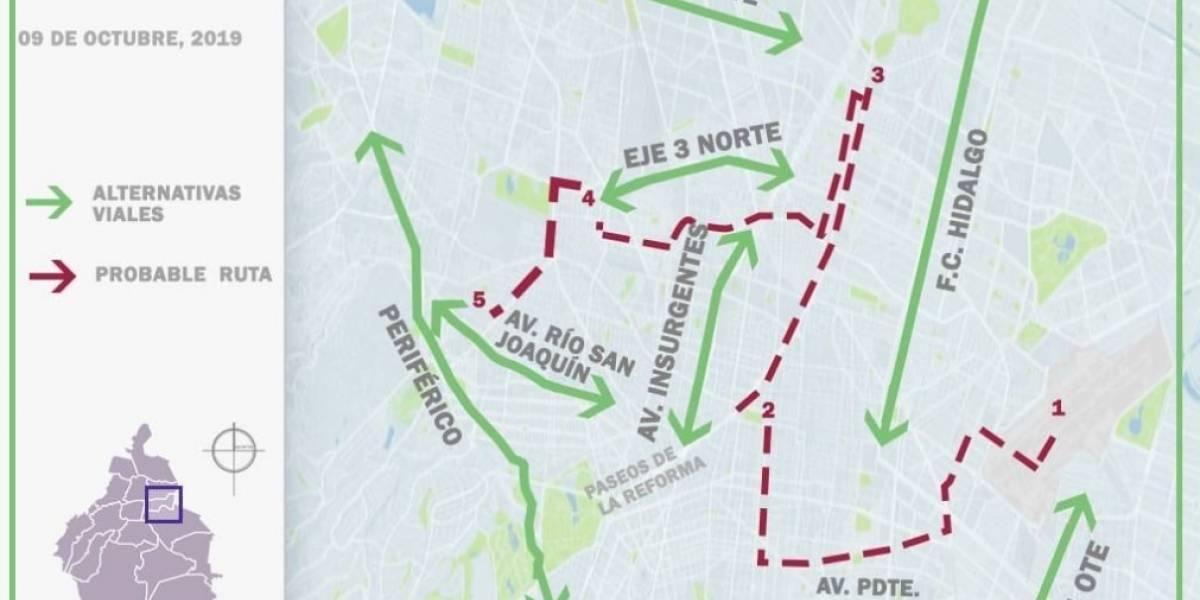Esta es la ruta que seguirán las cenizas de José José