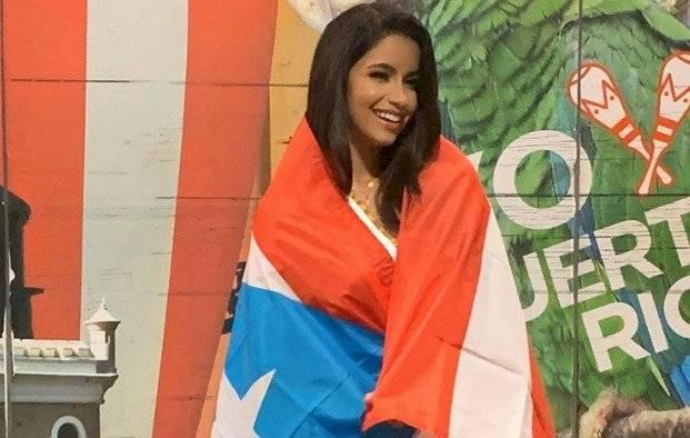 Hazel Ortiz minutos antes de subir al avión que la llevaría a Venezuela. Foto Instagram
