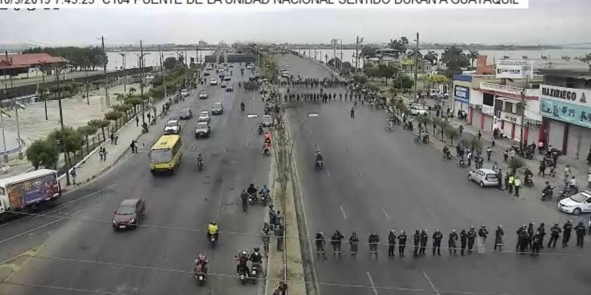Guayaquil: Cierran el Puente de la Unidad Nacional por motivos de seguridad