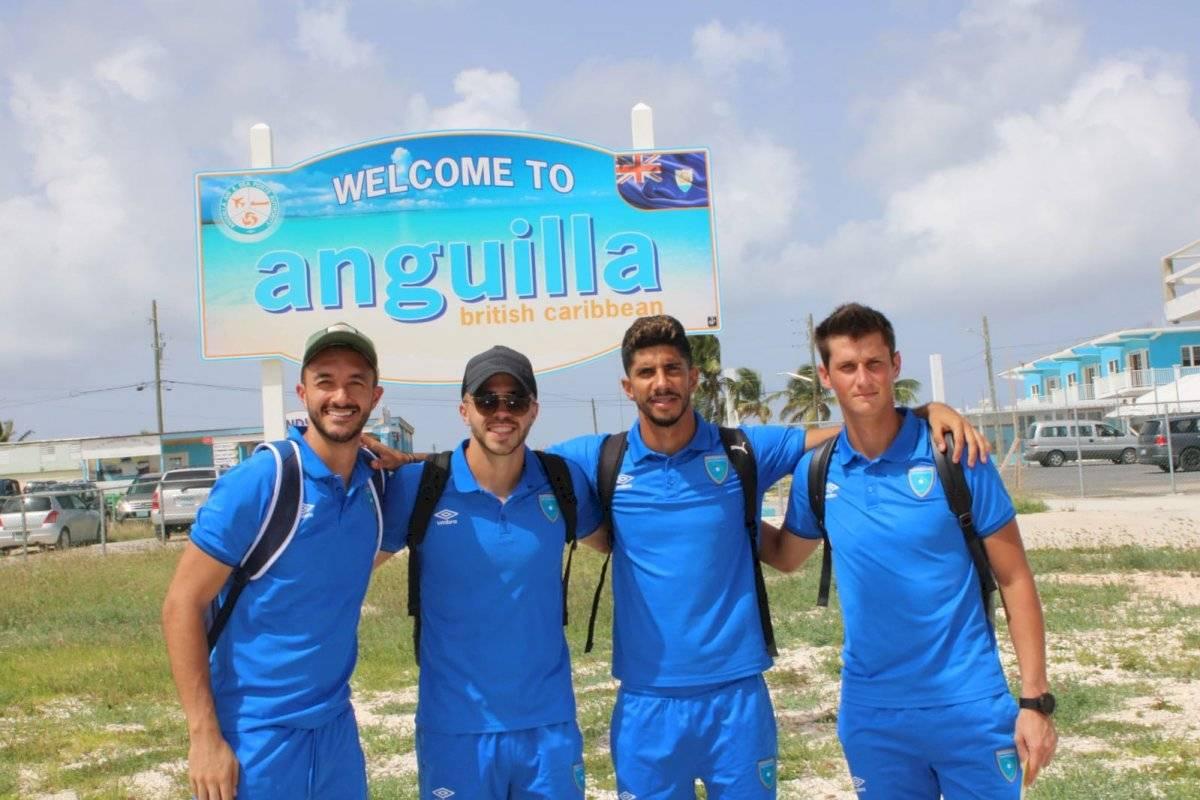 Guatemala en su arribo a Anguila