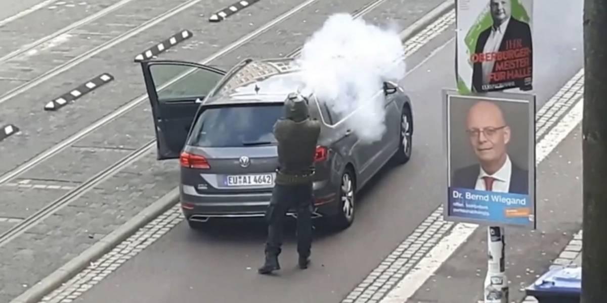 Impactante video de tiroteo frente a sinagoga en Alemania; hay dos muertos