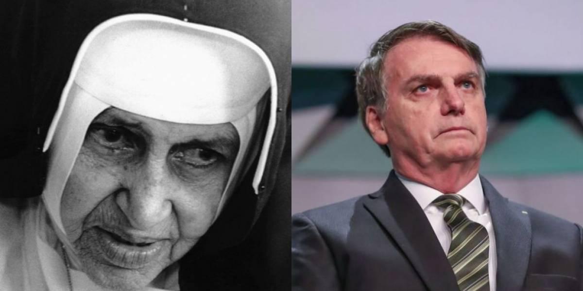 Jair Bolsonaro não irá à missa de canonização de Irmã Dulce