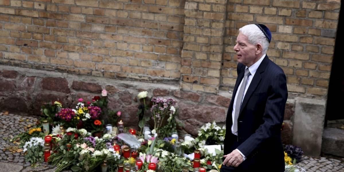 Autoridades de Alemania visitan sinagoga donde ocurrió atentado que dejó dos muertos