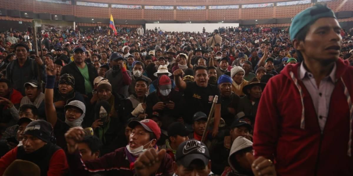 """CONAIE: """"Esto no para hasta que el FMI salga del Ecuador"""""""