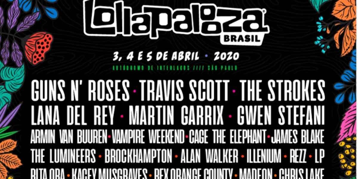 Lollapalooza 2020: Veja os horários dos shows desta edição e programe-se